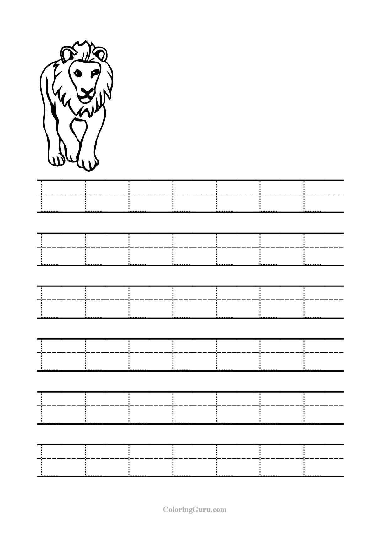 Free Printable Tracing Letter L Worksheets For Preschool inside Letter L Tracing Worksheet