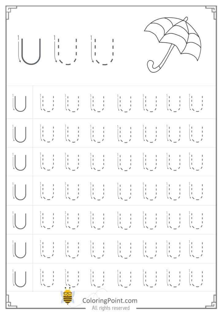 Free Printable Tracing Letter U Worksheets Preschool Pertaining To Letter U Tracing Worksheets Preschool