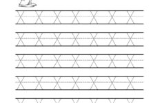 Tracing Letter X Worksheet