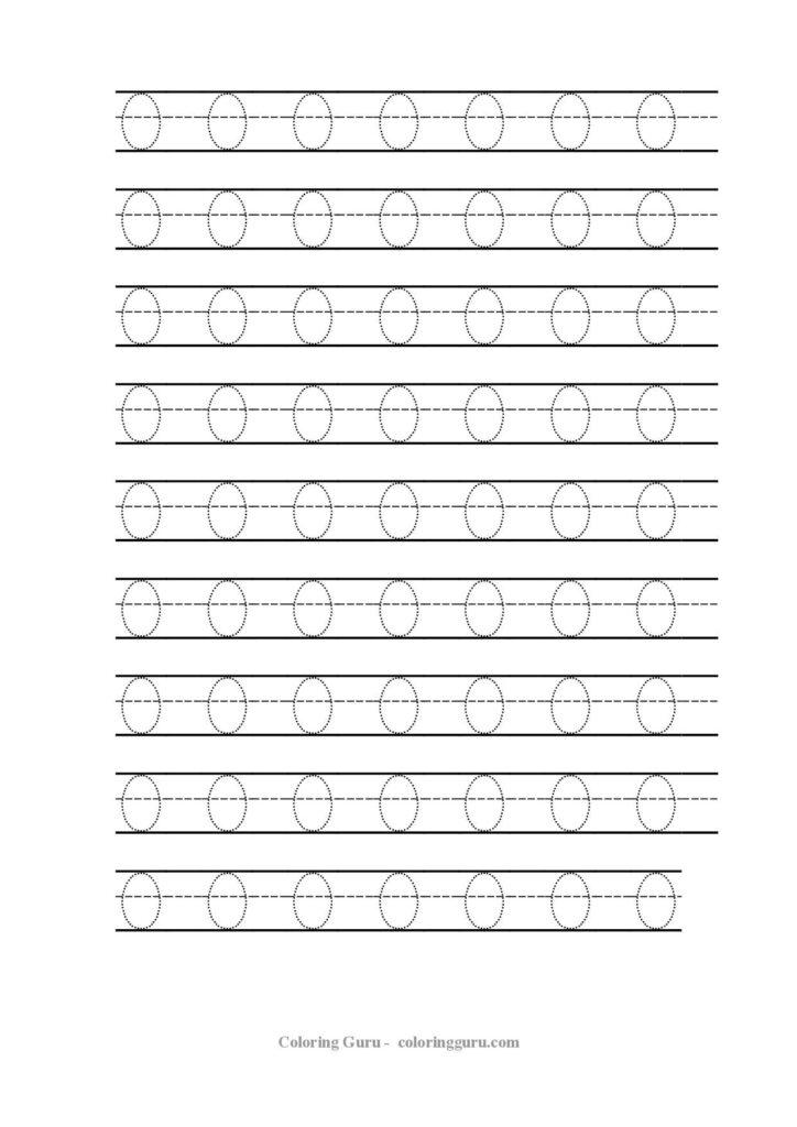 Free Printable Tracing Number 0 Worksheets   Handwriting