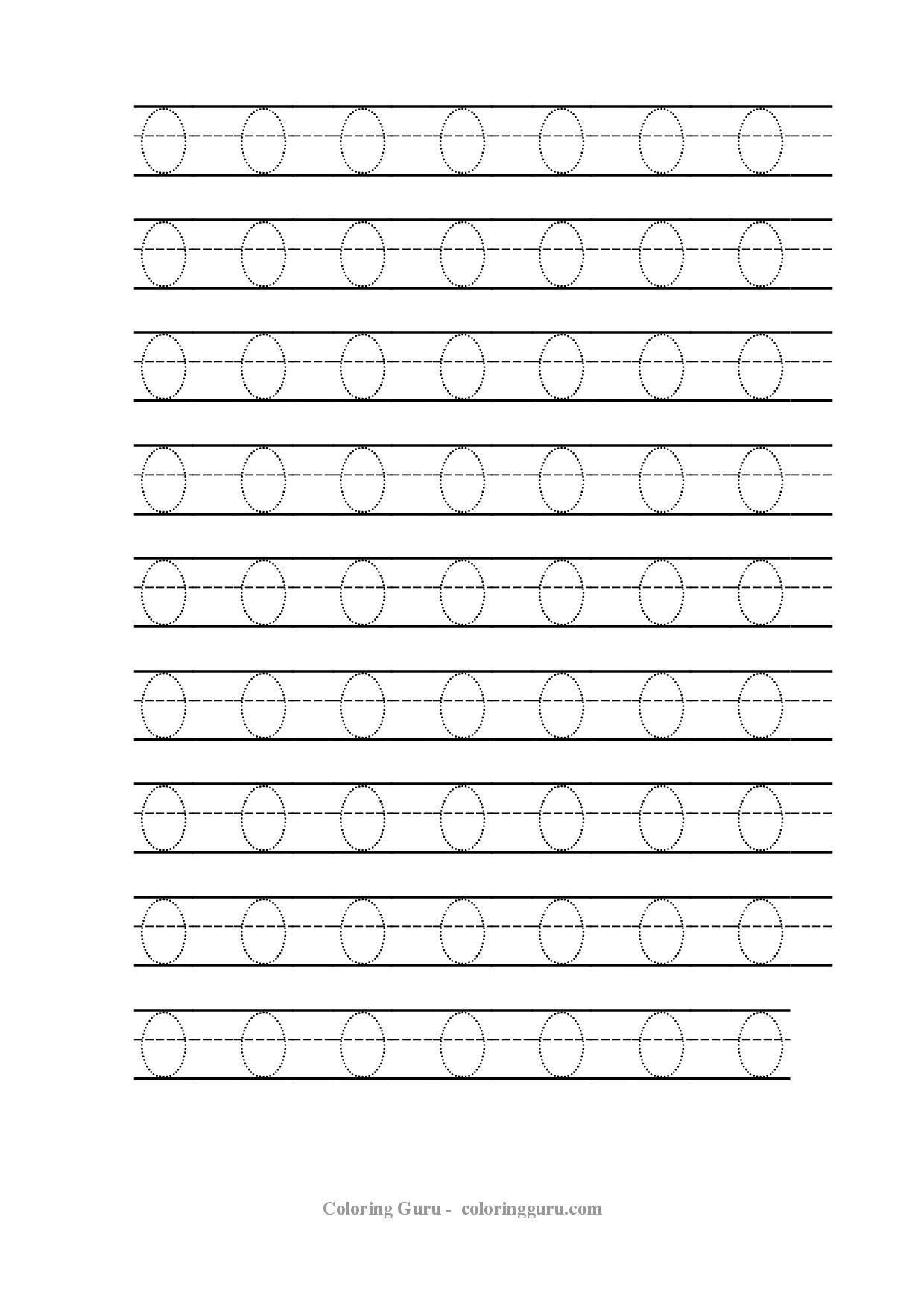 Free Printable Tracing Number 0 Worksheets | Handwriting