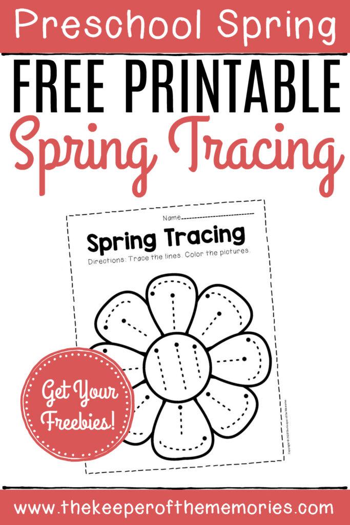 Free Printable Tracing Spring Preschool Worksheets   The