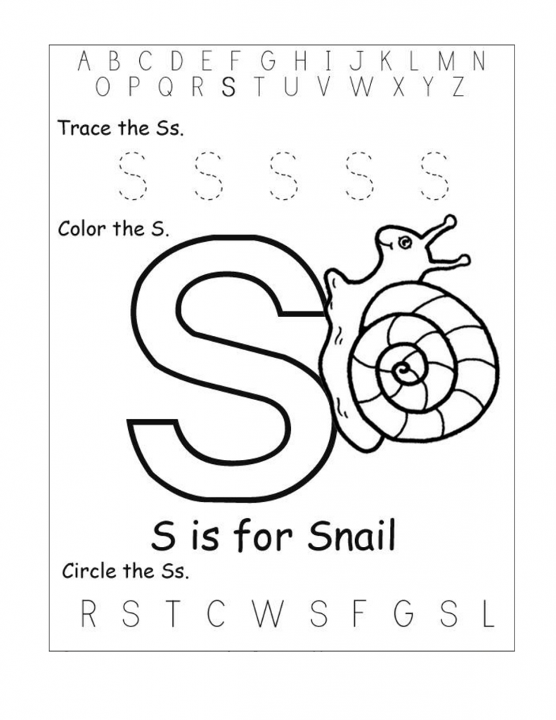 Free Printable Worksheets For The Letter S For Kindergarten pertaining to Letter S Worksheets Kindergarten Free