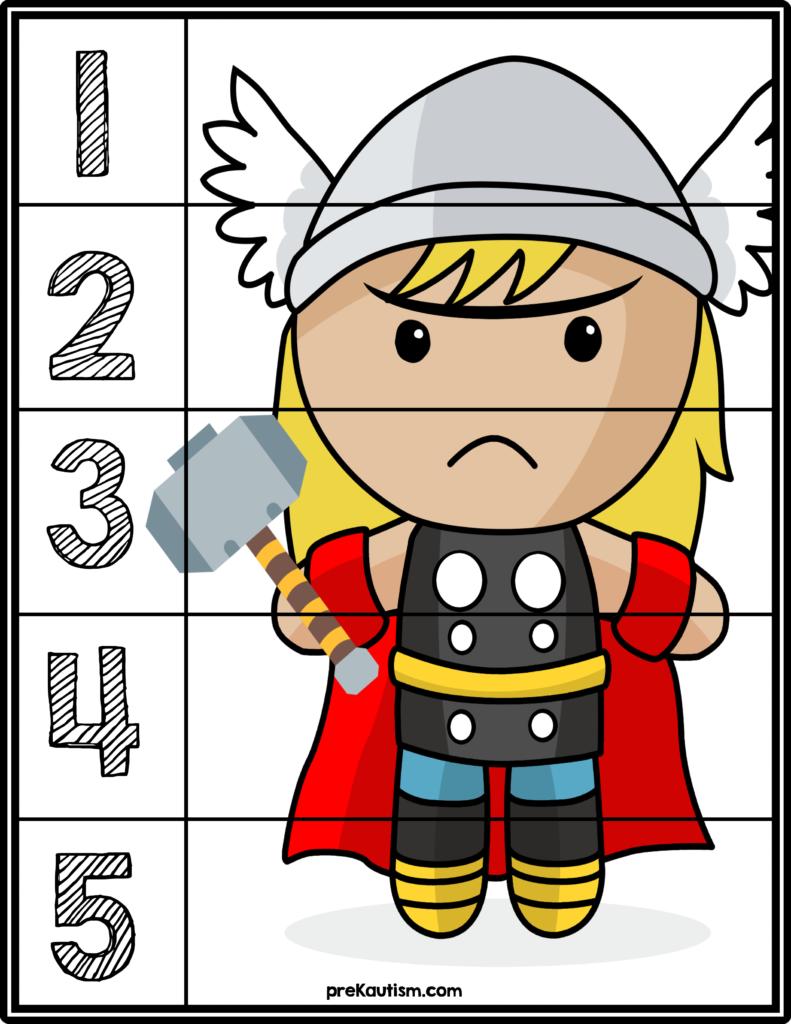 Free Superhero Number Puzzles | Number Puzzles, Superhero