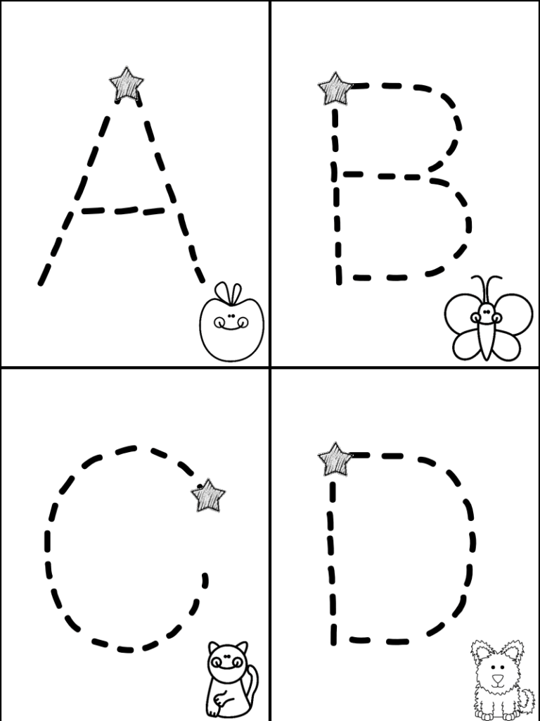 Free Traceable Alphabet Minibook   Mrs. Christy's Classroom Pertaining To Abc 123 Tracing Pages