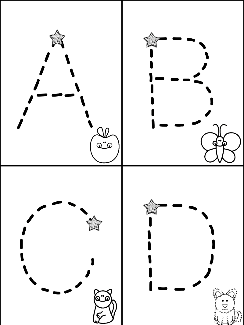 Free Traceable Alphabet Minibook---Mrs. Christy's Classroom pertaining to Abc 123 Tracing Pages