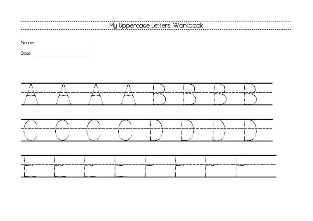 Free Uppercase Letters Worksheets | The Resources Of Islamic Inside Alphabet Worksheets For Reception