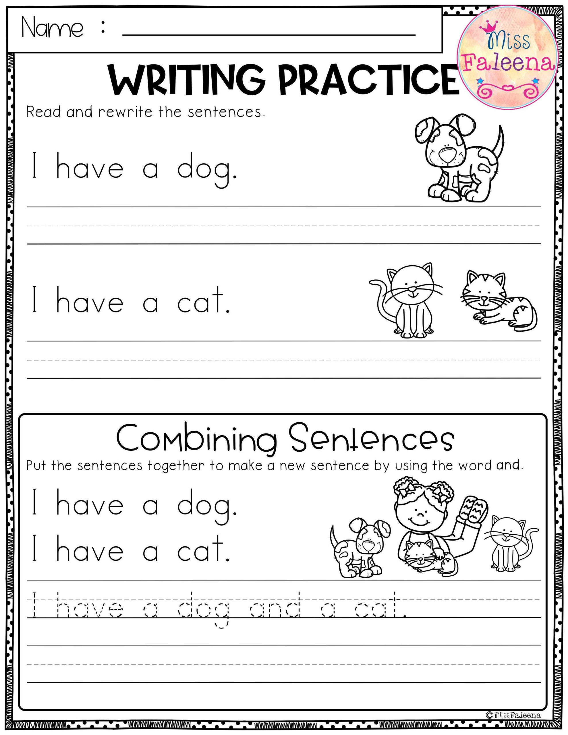 Free Writing Practice Combining Sentences Sentence