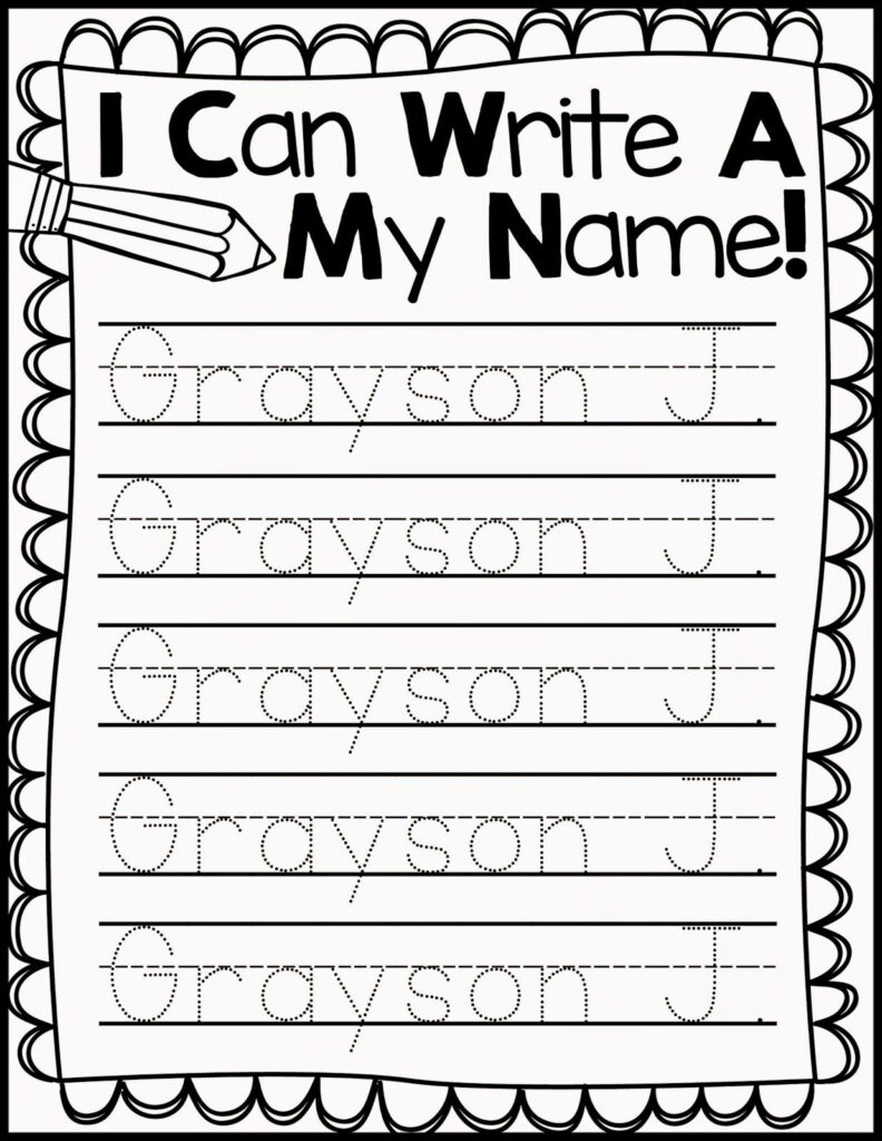 Freebie Friday* Name Handwriting Practice | Kindergarten Regarding Name Tracing Practice