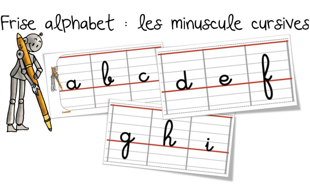 Frise De L'alphabet Des Minuscules En Cursif | Bout De Gomme