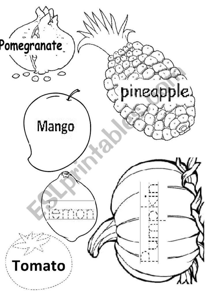 Fruit Tracing   2   Esl Worksheetisamira