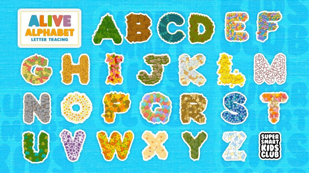 Fun And Colourful Letter Tracing With Alive Alphabet For Abc Tracing Youtube