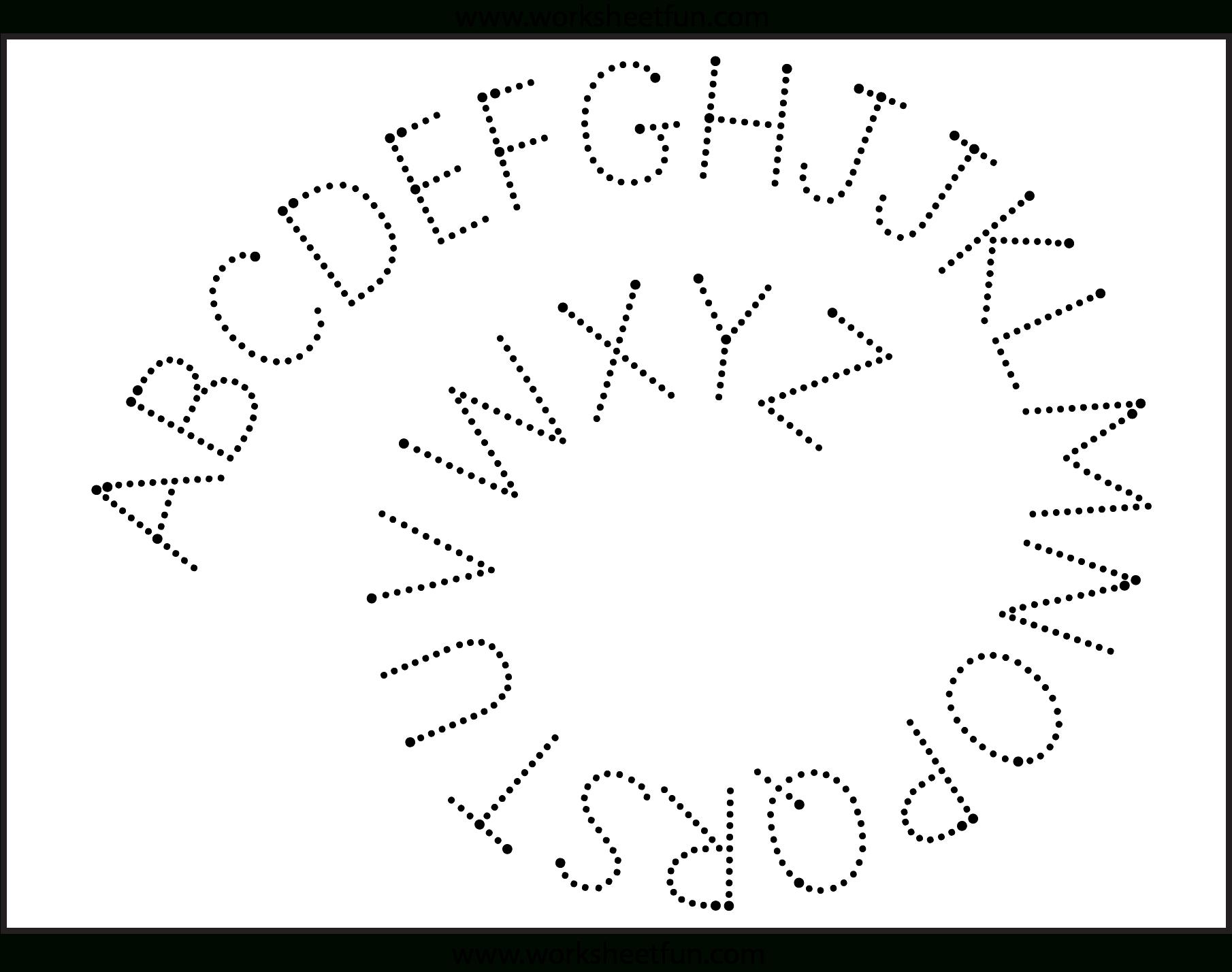 Fun Letter Tracing Worksheets | Tracing Worksheets Preschool