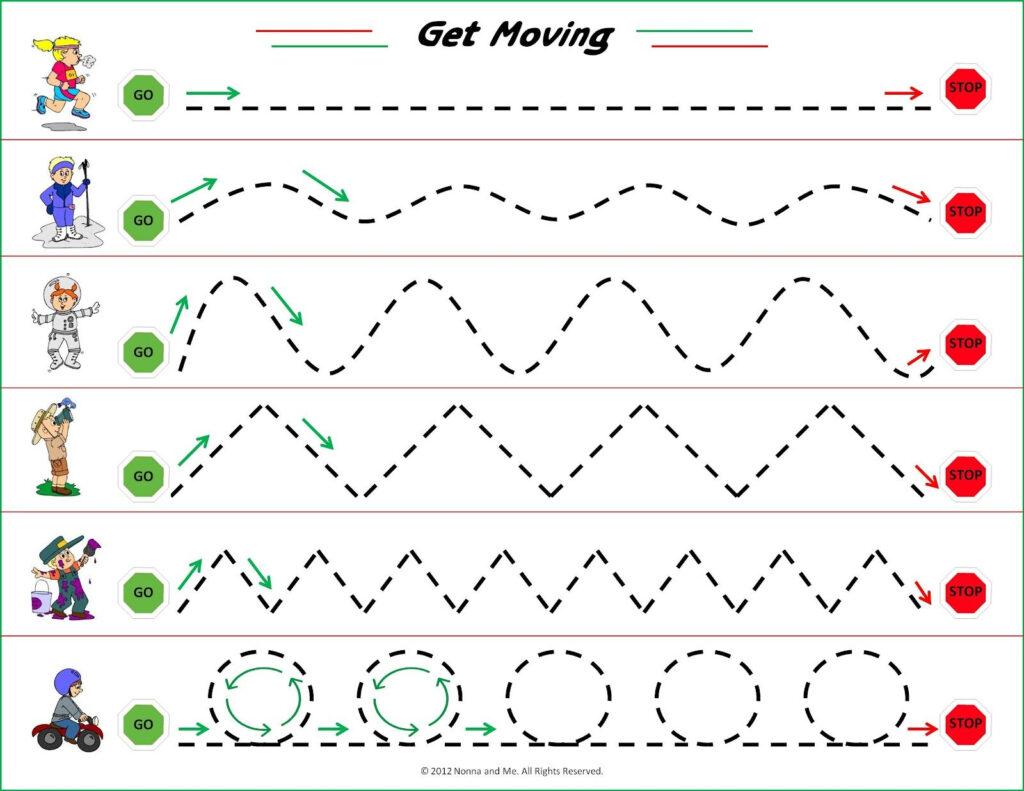 Get Moving | Tracing Worksheets Preschool, Preschool Tracing