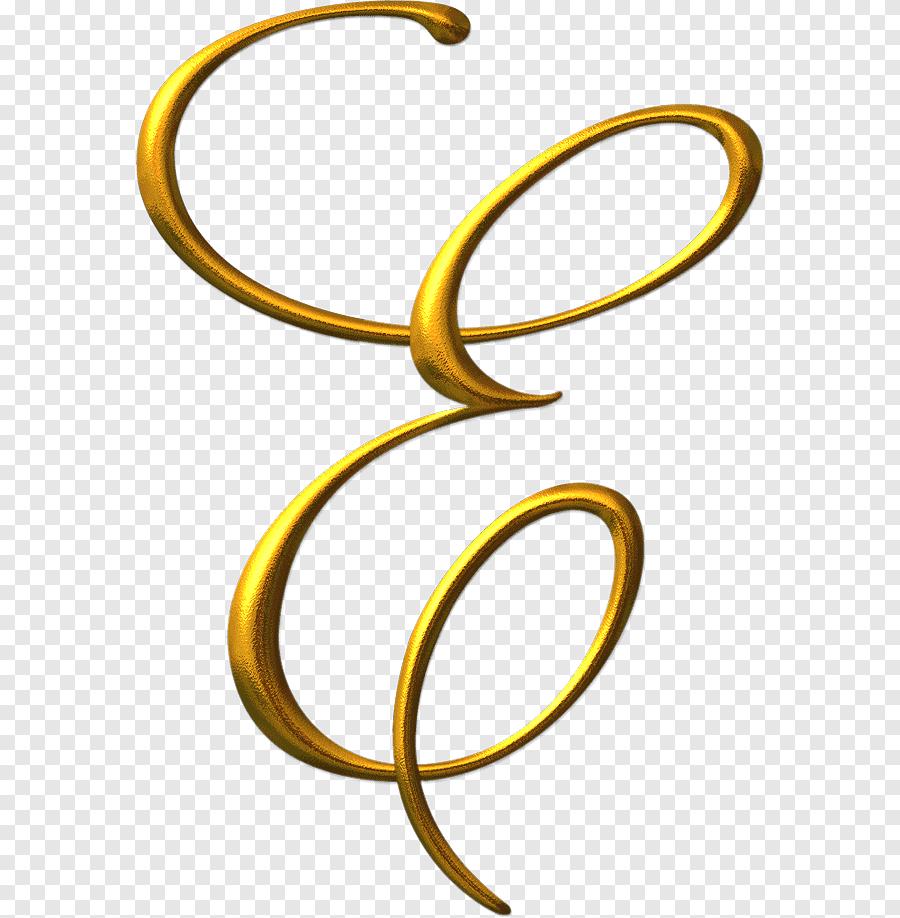 Gold Letter E, Letter Alphabet Graphy, Letras, Miscellaneous