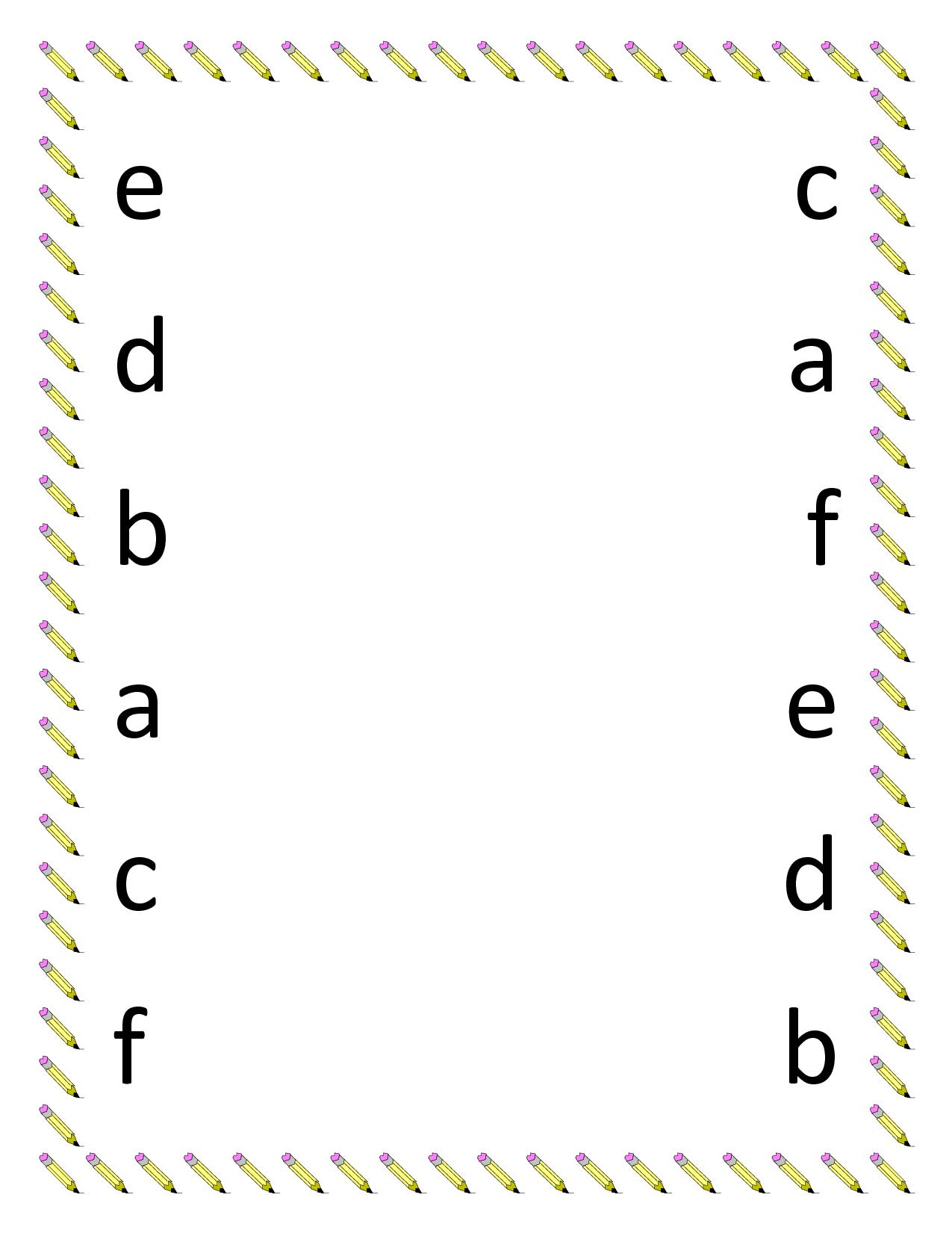 Google Image Result In 2020   Abc Worksheets, Kindergarten pertaining to Alphabet Matching Worksheets For Preschoolers