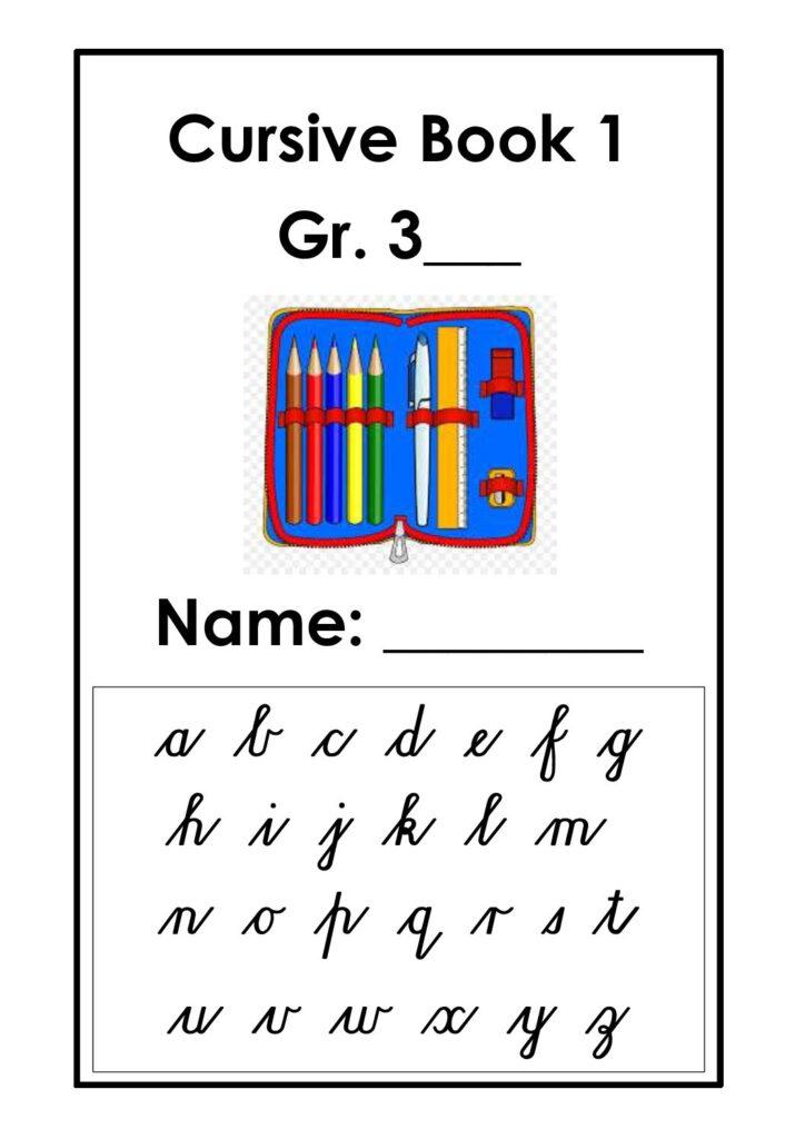 Grade 3 Cursive Handwriting Book 1