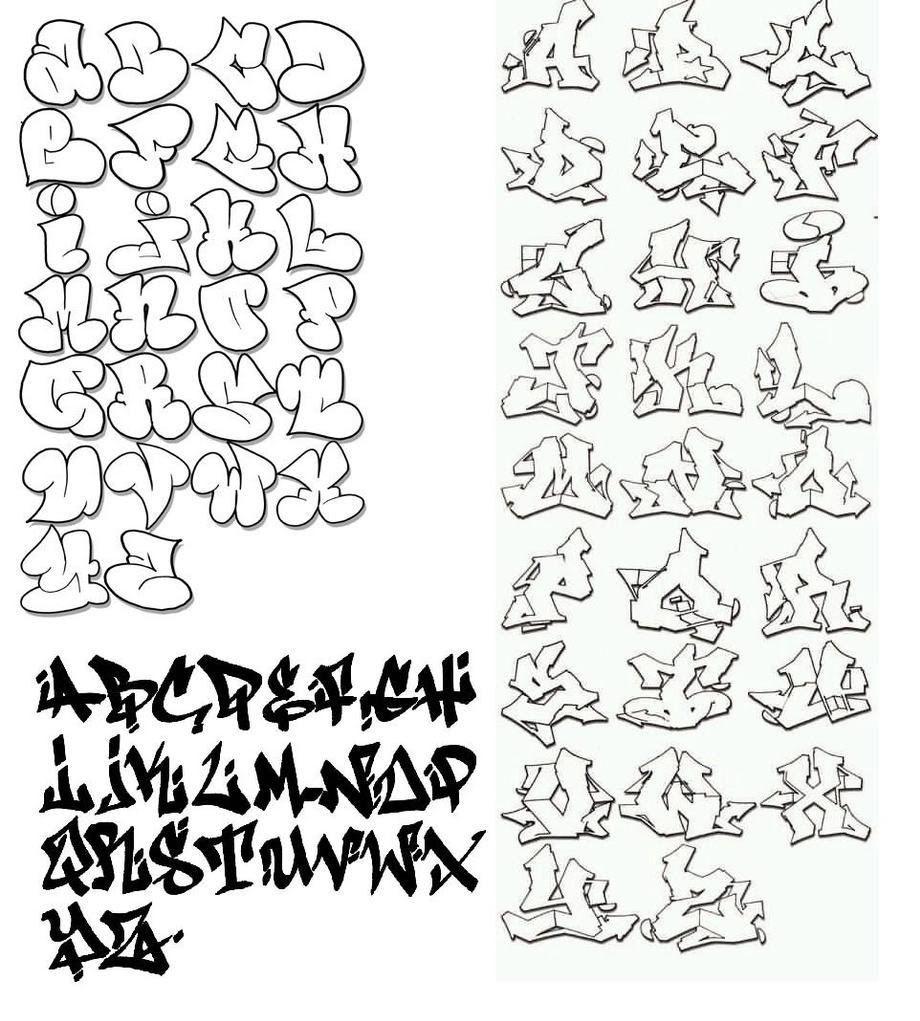Graffiti Alphabet Letters Graffiti Graphic Design The Be