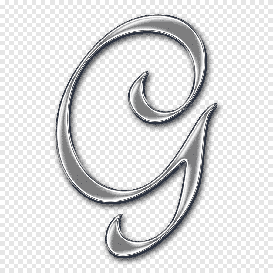 Gray G Letter Illustration, Letter Case Alphabet G Cursive