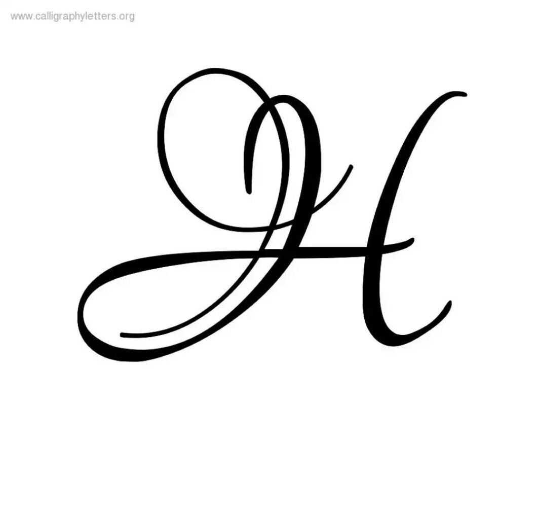 H Letter | Calligraphy H, Cursive J, H Tattoo