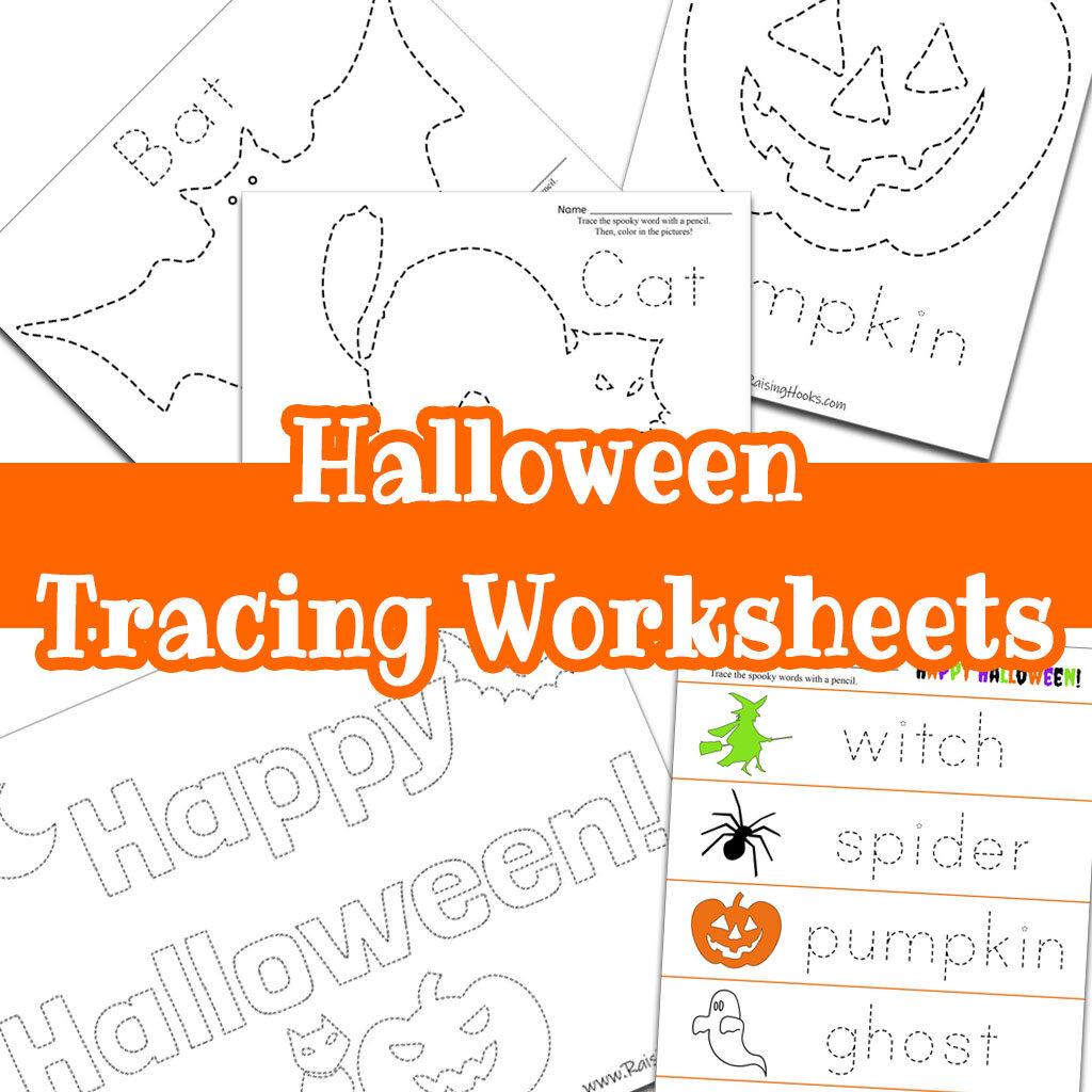 Halloween Tracing Worksheets   Raising Hooks