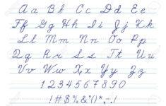 Cursive Alphabet Numbers