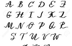 Cursive English Alphabet Capital
