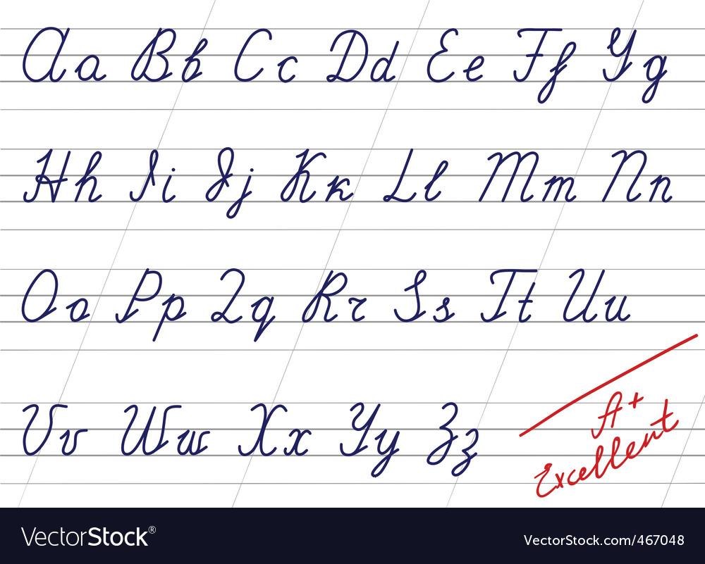 Handwriting Alphabet
