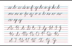 Cursive Alphabet A To Z Pdf
