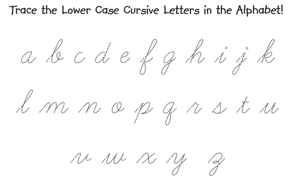 Handwriting Cursive Letters Sheet Alphabets Capital And