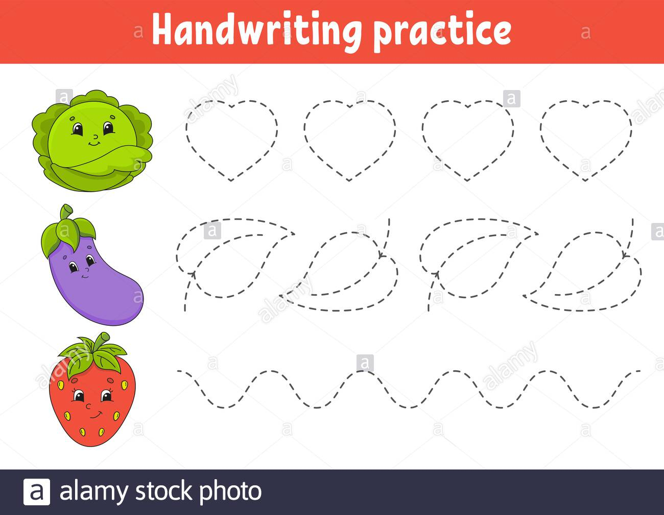Handwriting Pactice. Education Developing Worksheet