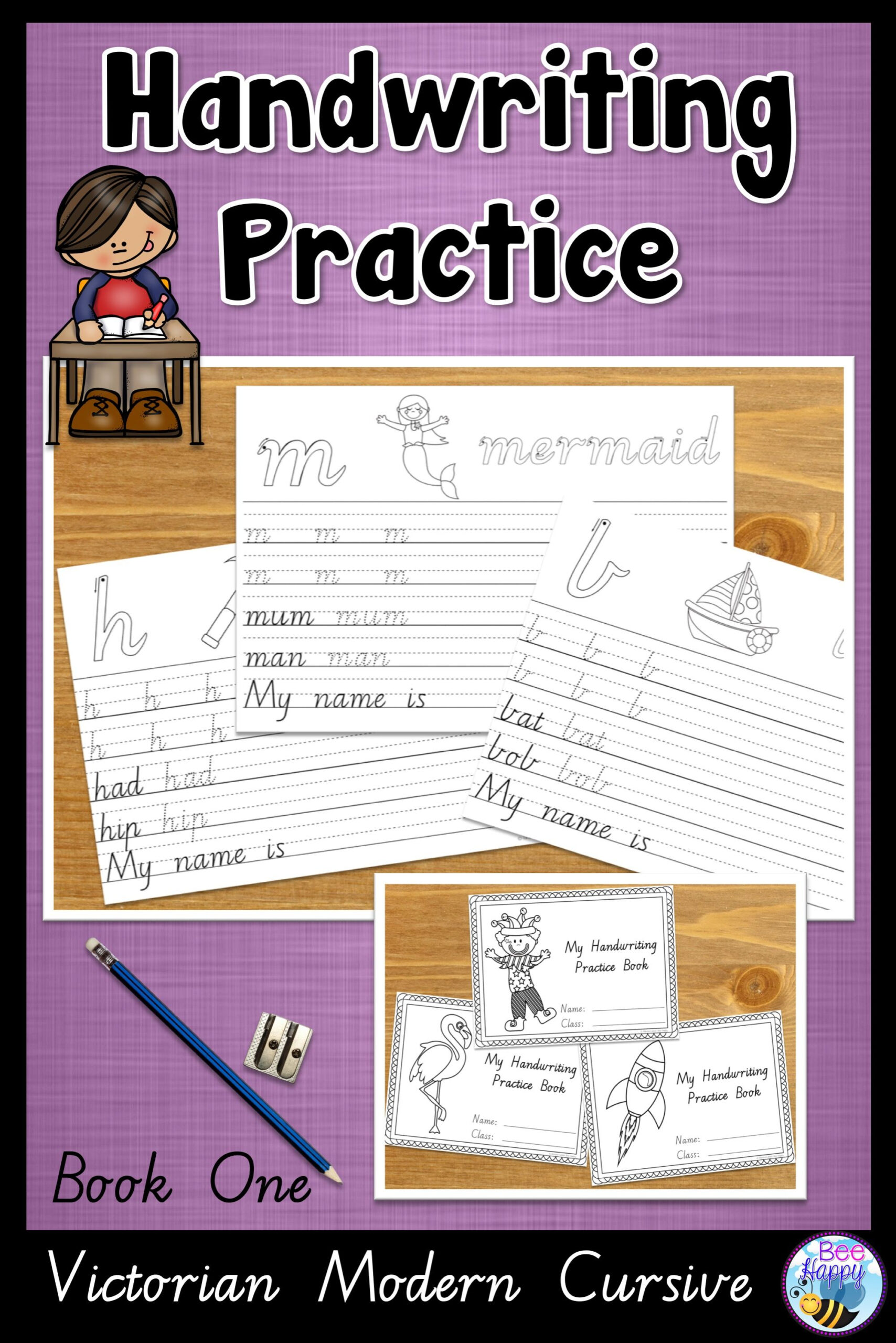 Handwriting Practice For Beginning Writers, Prep, Year 1 pertaining to Name Tracing Victorian Modern Cursive