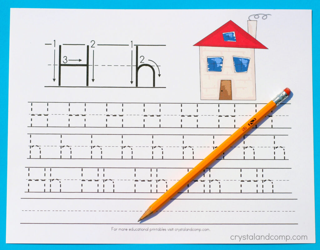 Handwriting Practice For Preschool: Letter H Within Letter H Tracing Preschool