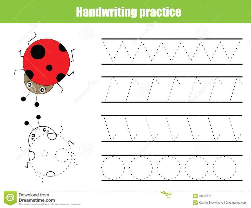 Handwriting Practice Sheet. Educational Children Game