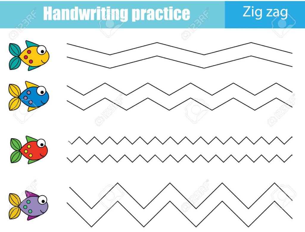 Handwriting Practice Sheet. Educational Children Game, Printable..