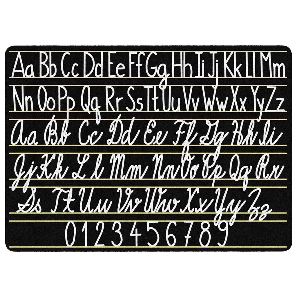"Handwriting Sampler Rug   7' 6""w X 12'l   Schoolsin"