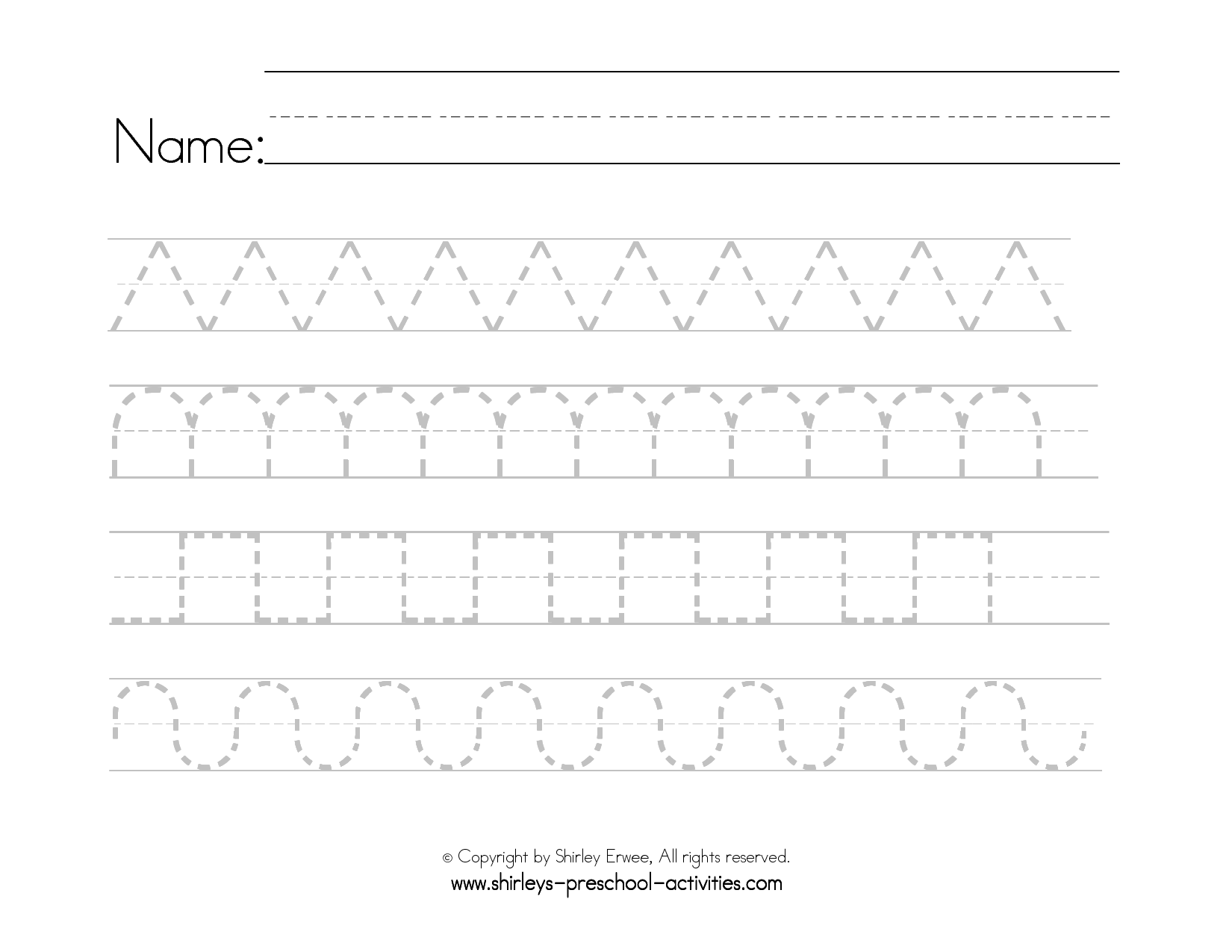 Handwritingrksheets For Preschool Name Free Children inside Name Tracing Pattern Cursive
