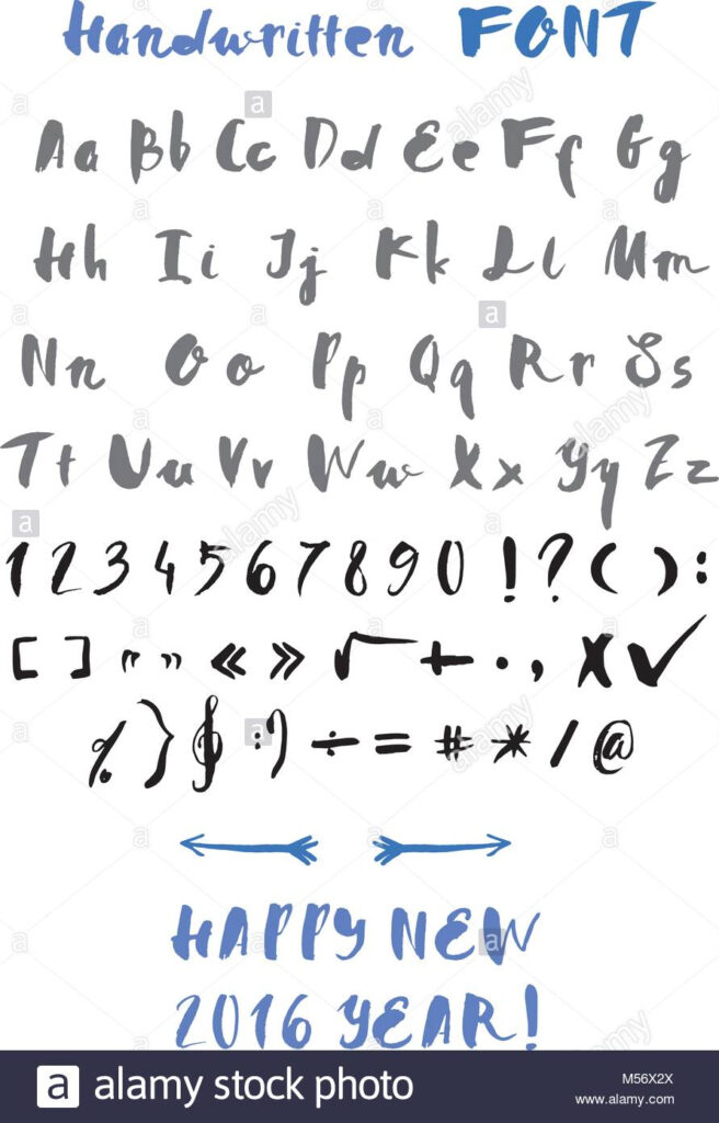 Handwritten Alphabet Stock Vector Image & Art   Alamy
