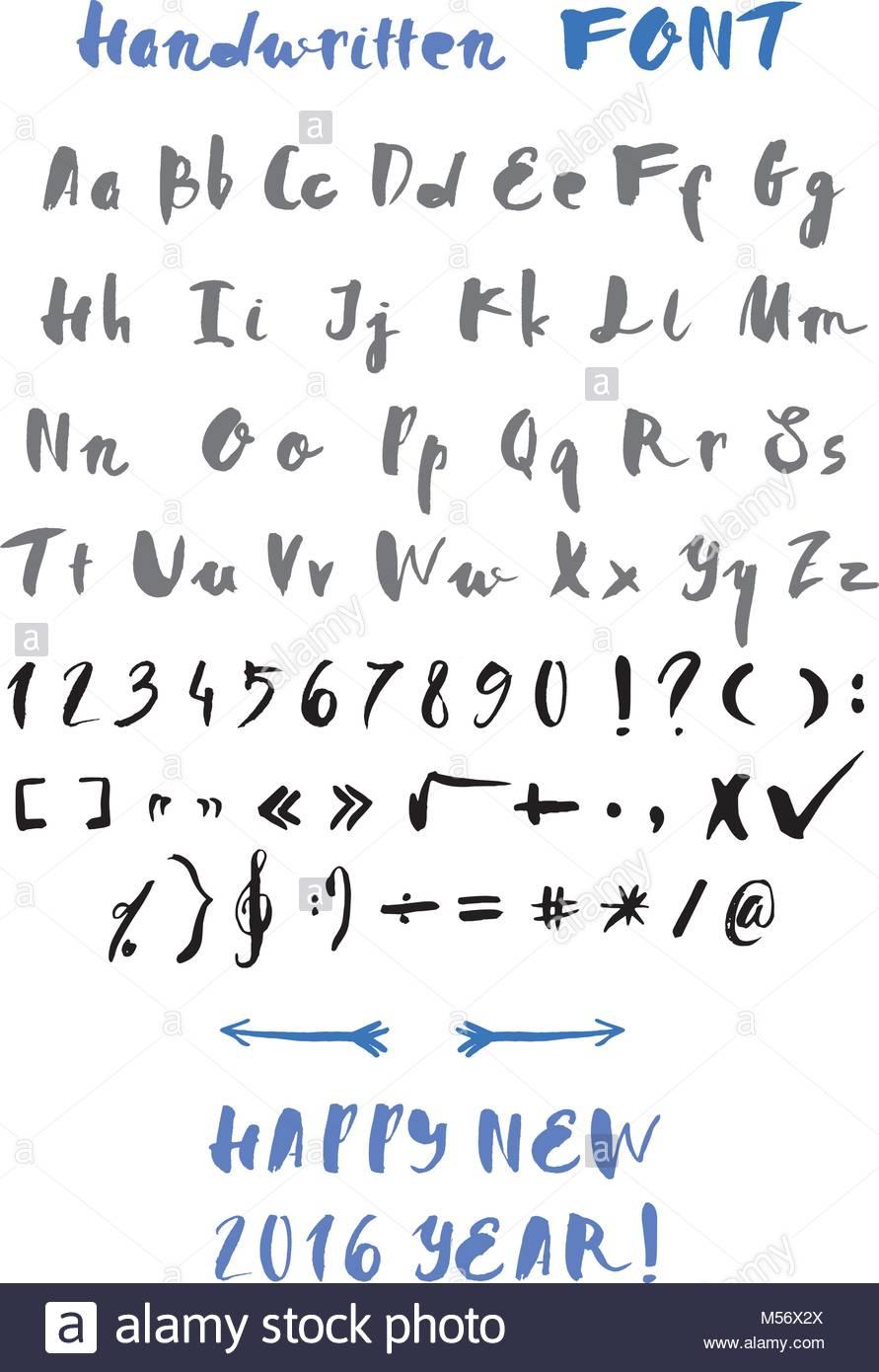 Handwritten Alphabet Stock Vector Image & Art - Alamy