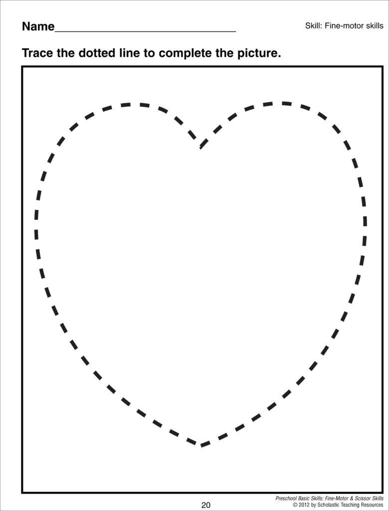 Heart Shape Tracing | Shape Tracing Worksheets, Shapes