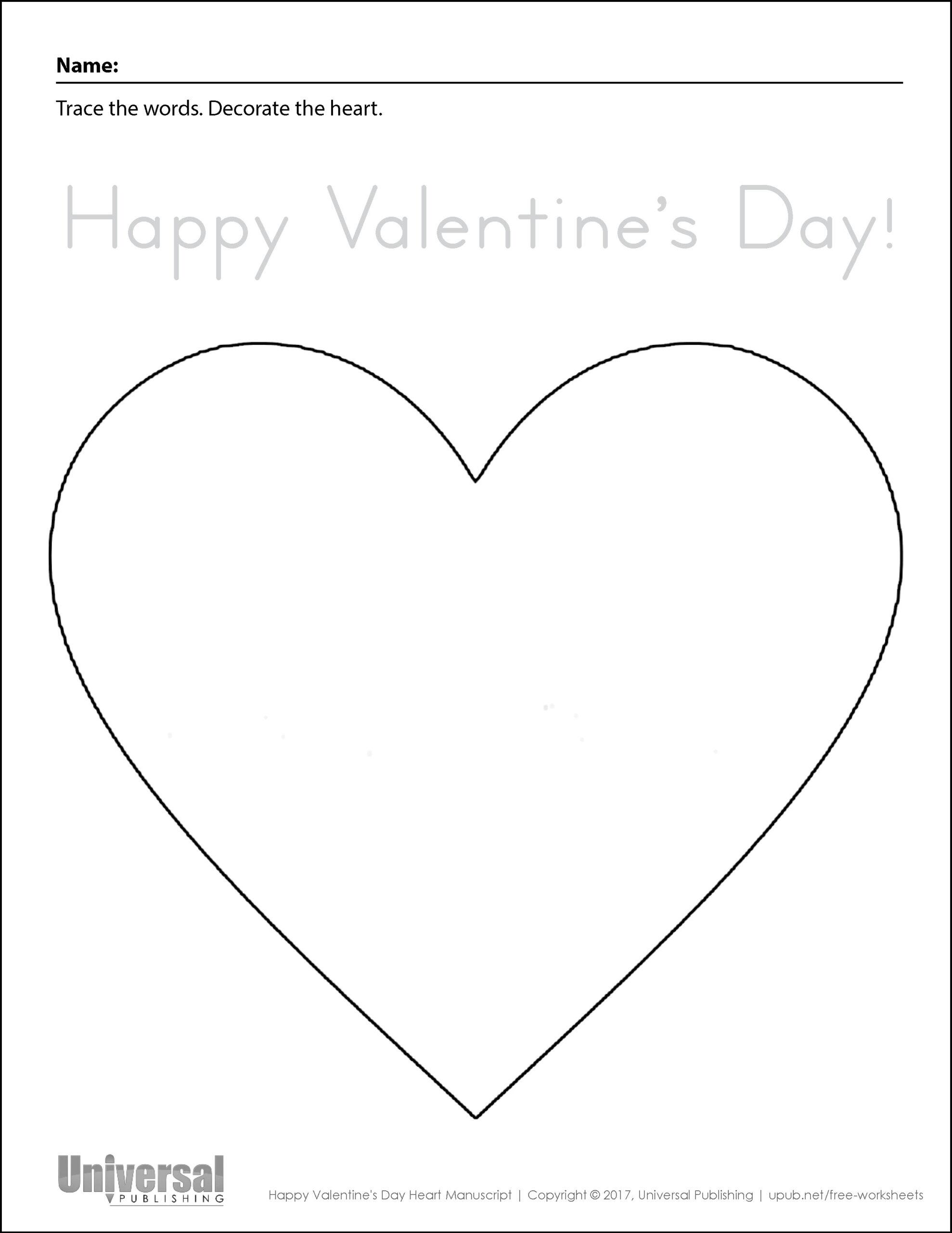 Heart Tracing Worksheet | Printable Worksheets And