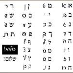 Hebrew Block Lettering And Script Lettering Sideside