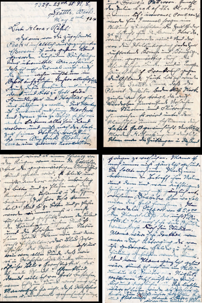Help Translating German Cursive To English. Winfred Letter