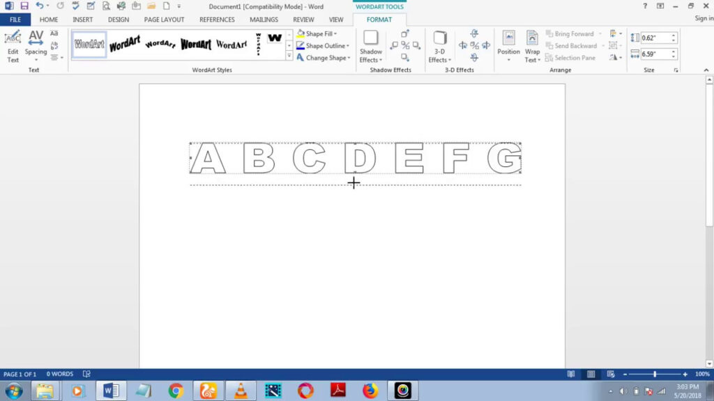How To Download Fonts And Make Dashed/dotted Letters And Number Tracing In  Microsoft Word 2013 Intended For Name Tracing Font On Word