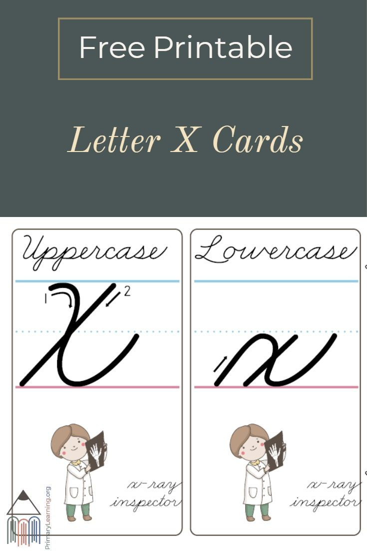 How To Make A Cursive X - Printable Cards | Primarylearning