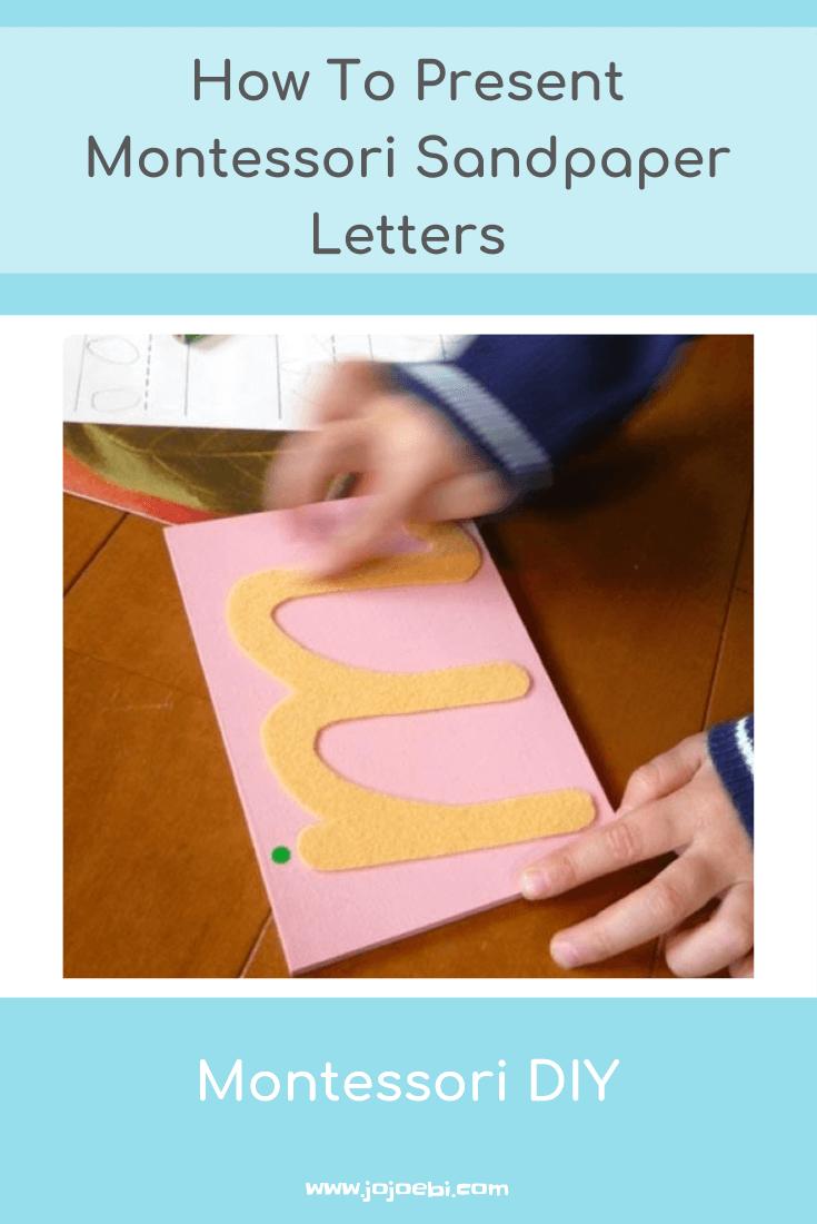 How To Present Montessori Sandpaper Letters » Jojoebi intended for Letter Tracing Montessori