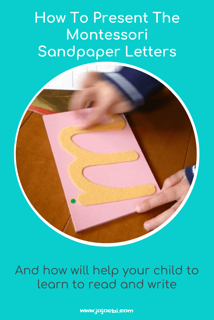 How To Present Montessori Sandpaper Letters » Jojoebi regarding Letter Tracing Montessori