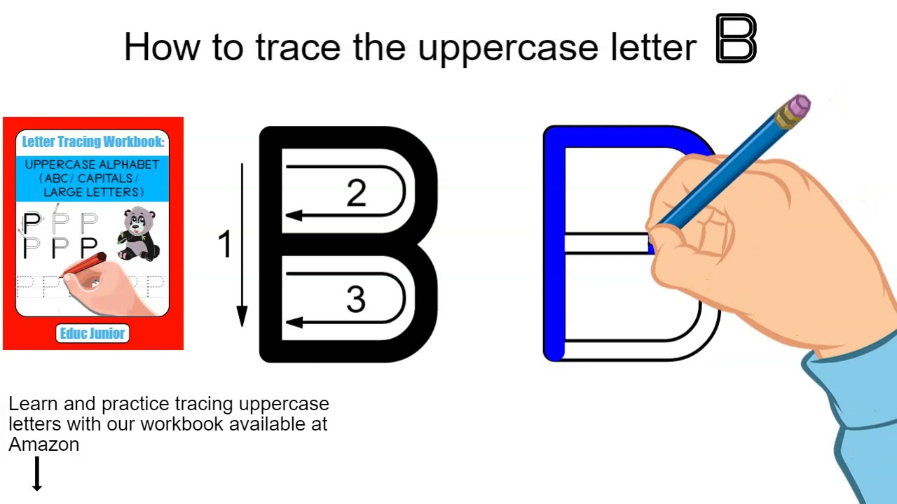 How To Trace The Uppercase Letter B inside Letter Tracing Html5