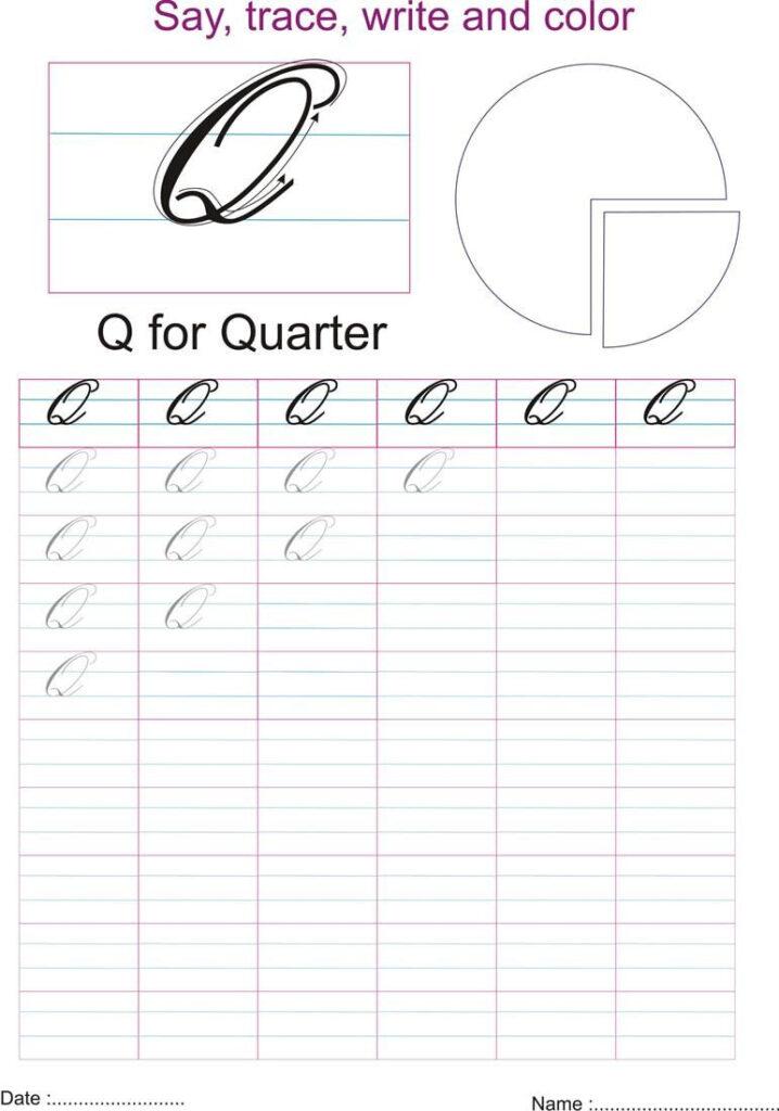 How To Write Capital Cursive Q