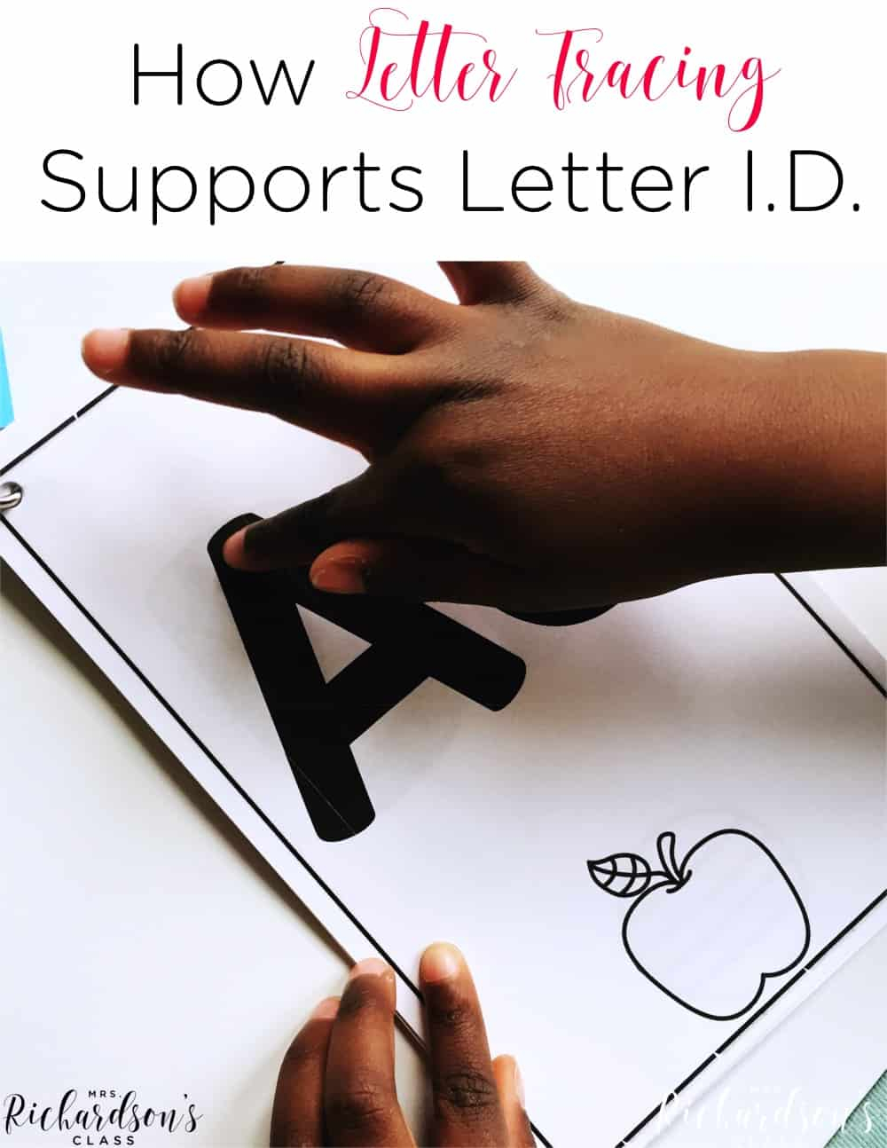 How Tracing Letters Helps Letter Identification - Mrs intended for Alphabet Tracing Book Jan Richardson
